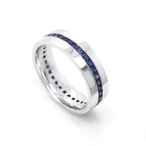 Mens-modern-sapphire-wedding-ring-by-oroSpot