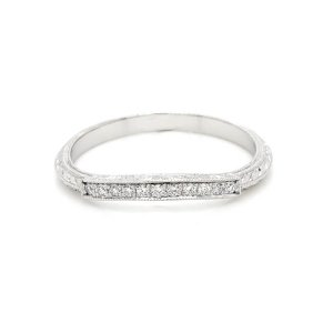 Vintage curved wedding band curved-diamond-pave-wedding-ring-OroSpot