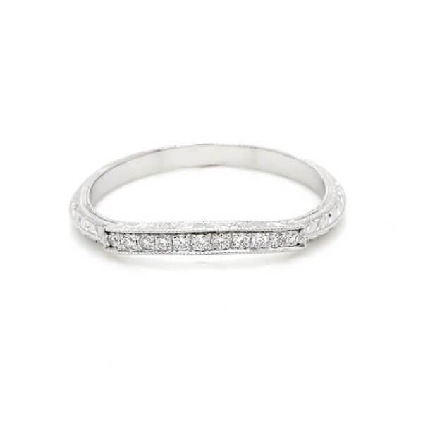 Vintage curved wedding band curved-diamond-pave-wedding-ring-OroSpot