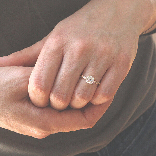 Vintage solitaire FBM promise ring by OroSpot