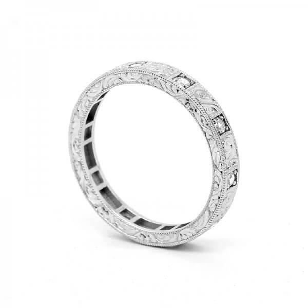 Art deco Rose cut diamond wedding ring by OroSpot