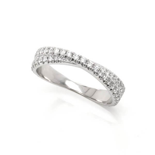 Braided Diamond Wedding Ring OroSpot