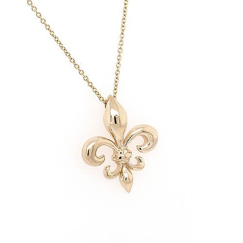 Fleur De Lis Gold Pendant