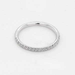 Modern Diamond half way band with french cut down