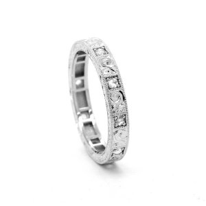 Rose Cut Diamond Eternity Band by OroSpot