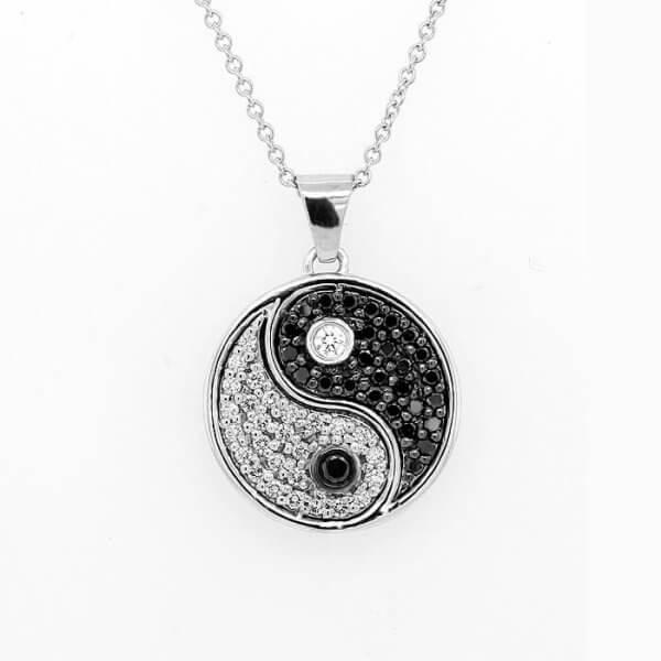 Yin Yang Diamond Pendant OroSpot