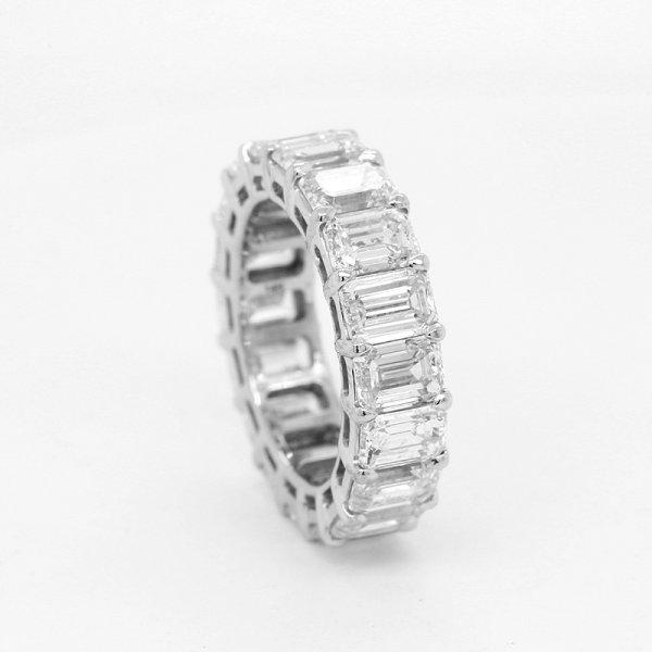 9cttw Diamond Emerald Ring