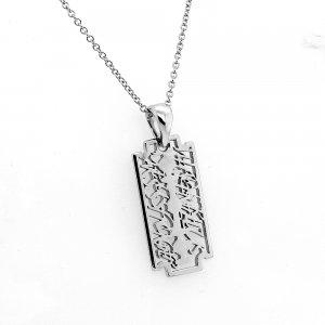 Inspirational Razor Gold Pendant Necklace OroSpot