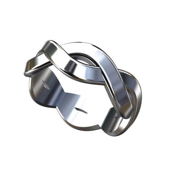 Infinity Men's wedding ring 7.5mm wide by OroSpot
