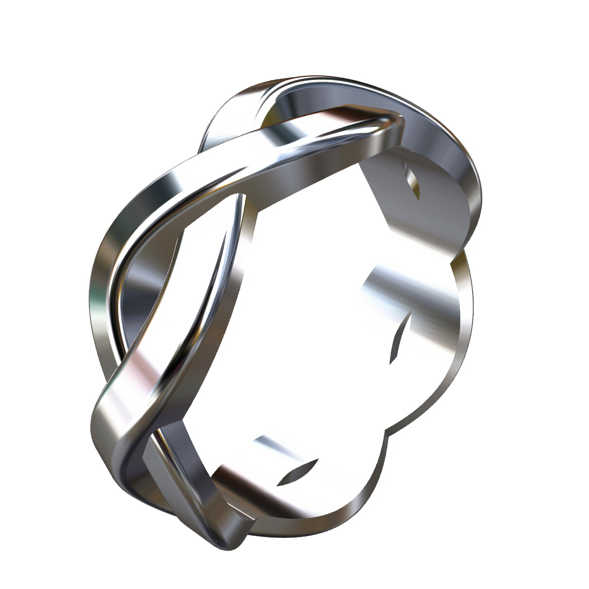 Intertwined wedding ring for a guy OroSpot B2041WPP-3