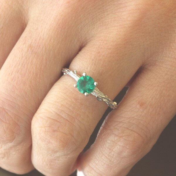 Green Emerald Ring OroSpot
