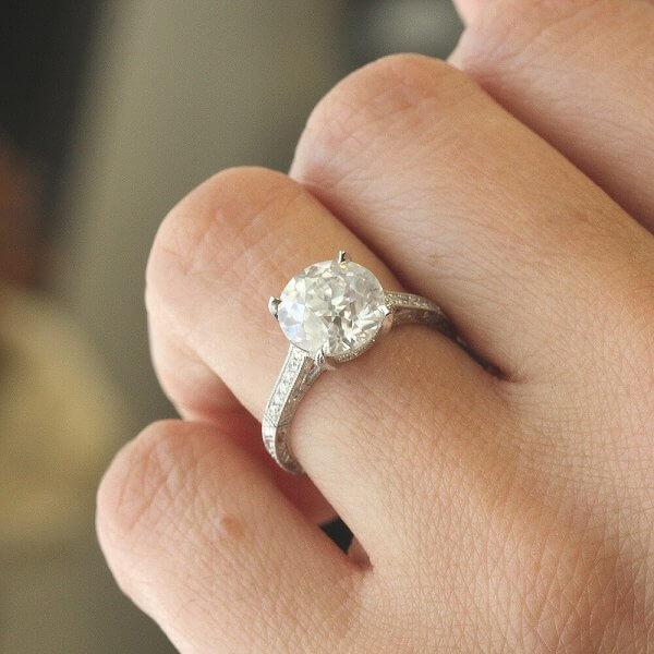 Art Deco Moissanite Engagement Ring OroSpot