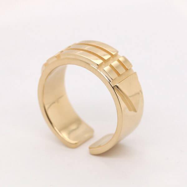 Atlantean Sacred Gold Ring
