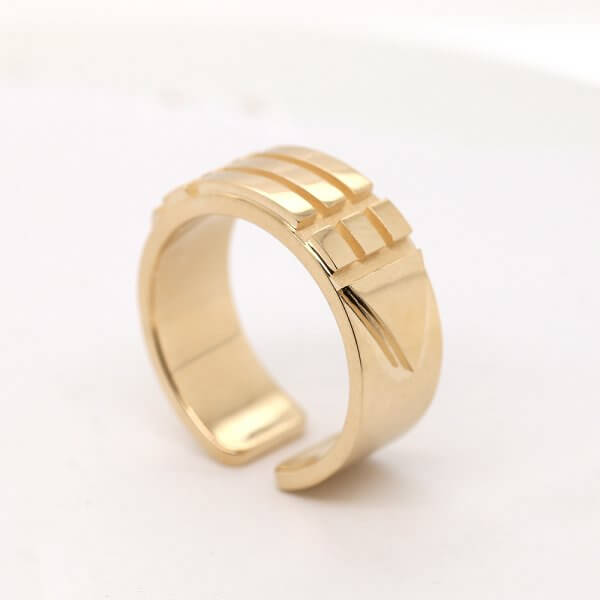 Atlantis Solid Gold Ring OroSpot