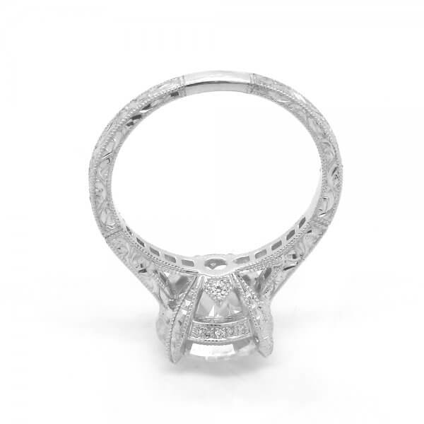 Hand Carved Diamond Ring by OroSpot
