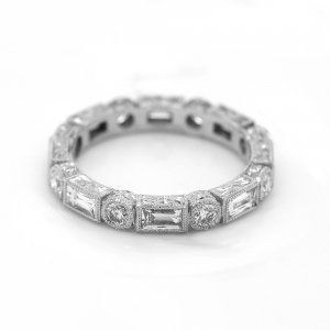 Sectional vintage diamond eternity ring by OroSpot