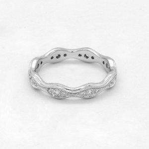 Stackable diamond eternity ring OroSpot