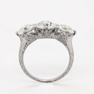 Edwardian Inspired 3 Stone Ring