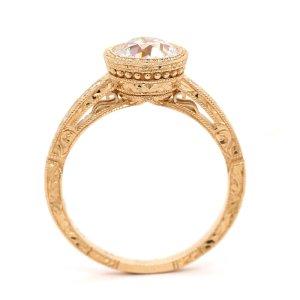 Vintage Bezel Moissanite Diamond Ring