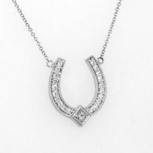 Horseshoe Lucky charm pendant
